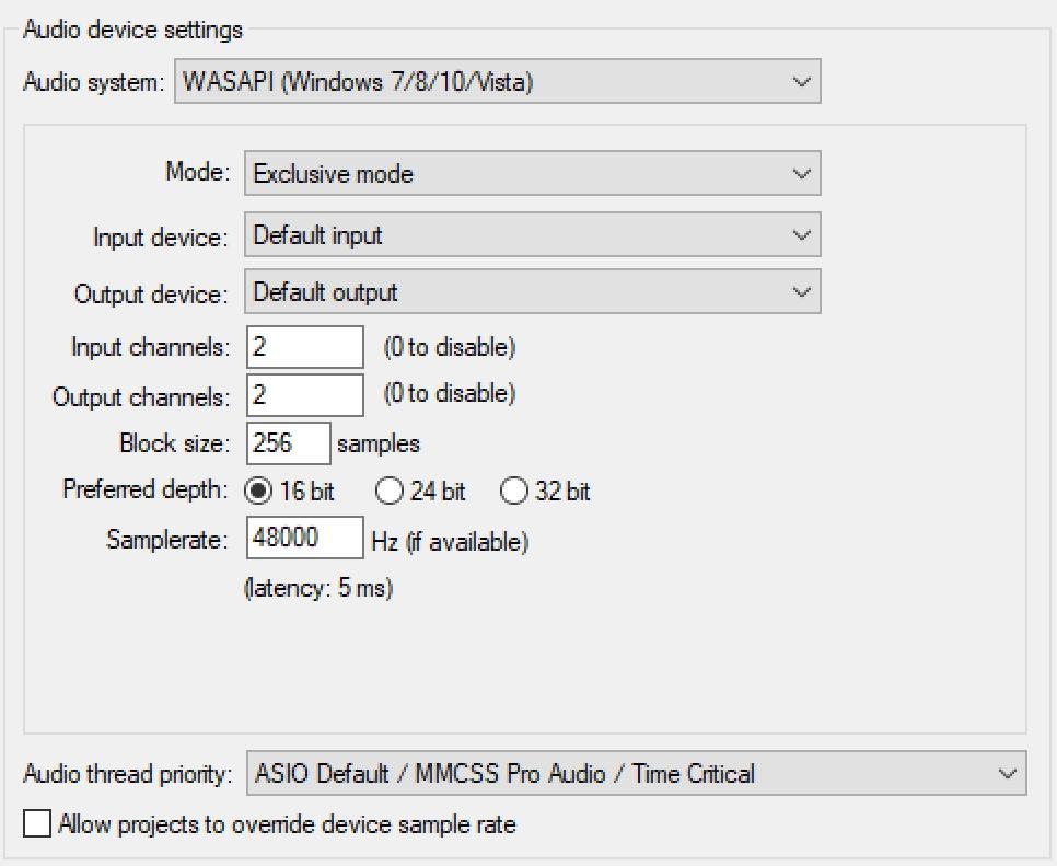 Minimizing Audio Latency on Windows 10 with WASAPI – Donya